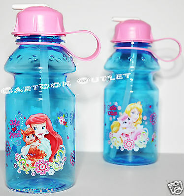 Palace Pets Water Bottle Triton Cup 14 Oz Straw Disney Bpa Free Travel Ariel Cup