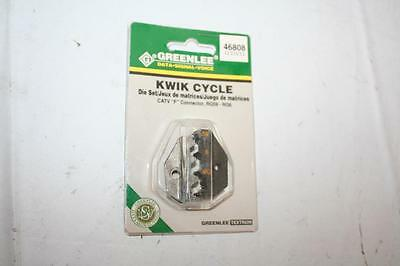 "Greenlee 46808 Kwik Cycle Die Set CATV ""F"" Connector RG59 RG6"