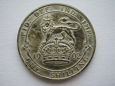 1902 silver Proof Shilling #1