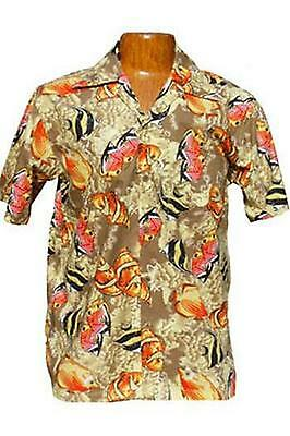 Hawaii - Shirt - Coral Fish Cotton