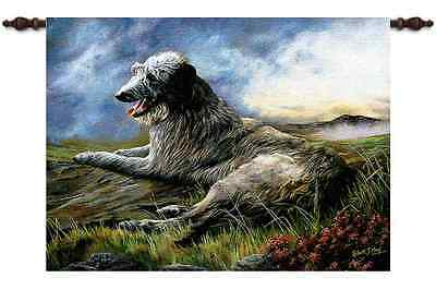 SCOTTISH DEERHOUND DOG ART TAPESTRY WALL HANGING 31x26