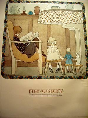 Fireside Story Art Print  New Condition