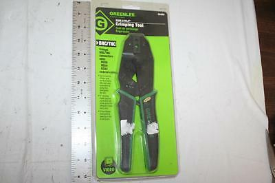 Greenlee 46800 Kwik Cycle Crimping Tool BNC/TNC on RG58 RG59 RG62 Coaxial Cable