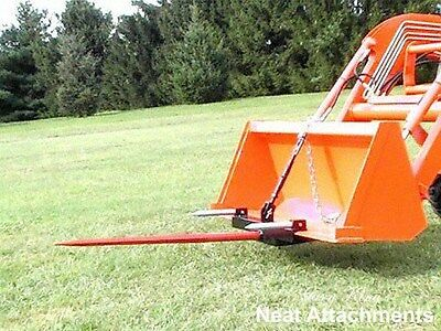 "HD Bucket Hay Bale Spear Attachment  For Front Loader & Skid Steer w/ 39"" Prong"
