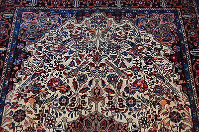 c1930s ANTIQUE FINE MASTER PIECE PRSIAN BIJAR RUG 4.5x7 HIGH KPSI_KORK WOOL