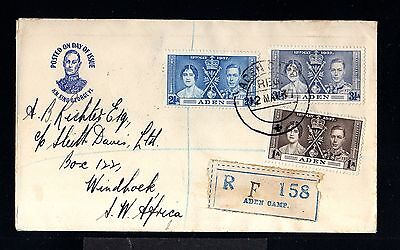 11954-ADEN-REGISTERED COVER ADEN CAMP to WINDHUK (south africa)1937.WWII.BRITISH
