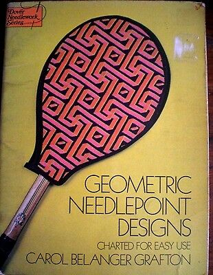 Vintage GEOMETRIC NEEDLEPOINT DESIGNS- CHARTED FOR EASY USE Crafts Tapestry