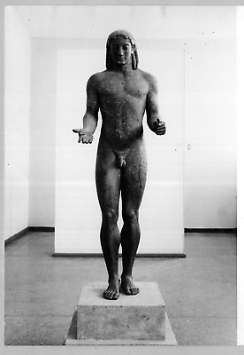 Greece, Athens, National Museum, statue of Apolo Vintage  Tirage argentique