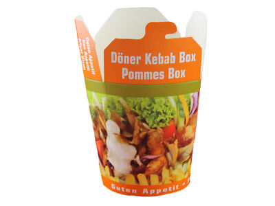 50 Dönerboxen Pommesbox Kebab Box Faltbox Food to go 16 oz 400 ml (300028)
