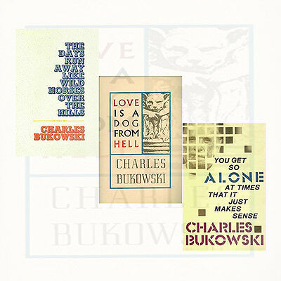 Charles Bukowski Collection 3 Books Set You Get So Alone at Times,Paperback,New