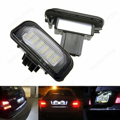 2X LED Licence Number Plate Light Error Free Mercedes Benz C-Class W203 Saloon