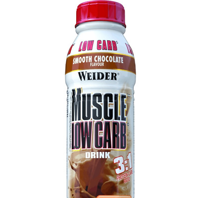 (5,90 EUR/l) Weider Muscle Low Carb Drink Display 6x500ml div. Sorten NEU
