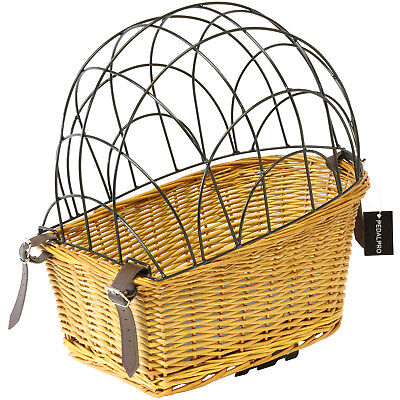 Pedalpro Wicker Dog/puppy/pet Rear Pannier Rack Bicycle/bike Basket Carrier/cage