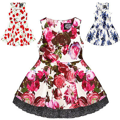 Hearts & Roses London Girls Childrens Floral 1950s Vintage Retro Party Dress
