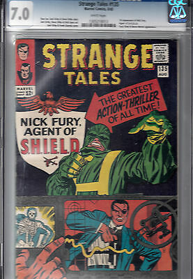 STRANGE TALES #135  (Aug 1965, Marvel) CGC 7.0   1st app. of NICK FURY of SHIELD
