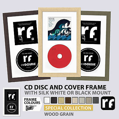 CD Frame for Disc and Cover Light Wood Dark Wood Cream Grey Putty RUBIX FRAMES