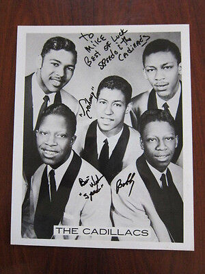 THE CADILLACS  8x10 photo AUTOGRAPHED  Doo wop