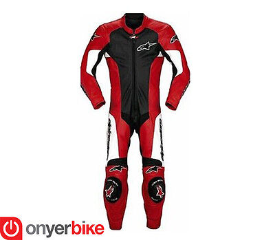 Alpinestars Mens GPU One 1 Piece Leather Race Motorcycle Motorbike Suit SALE