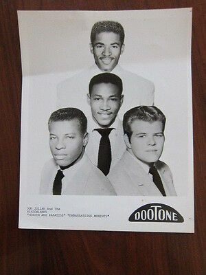 DON JULIAN & THE MEADOWLARKS  8x10 photo doo wop