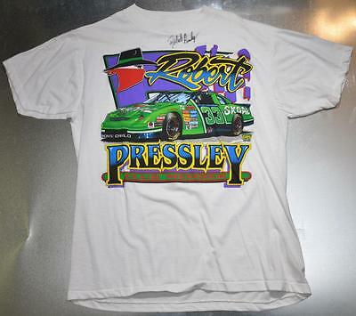 Robert Pressley Signed Autographed T Shirt NASCAR #33 Club Member Monte Carlo