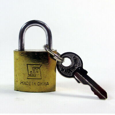 Lot Of 48 Padlock Small Brass 20MM Mini Tiny Lock Keyed Box Jewelry Drawer 2 Key