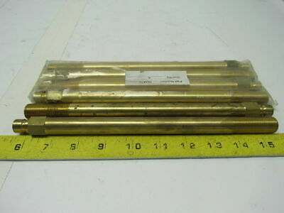 "353X10  Brass Mold Cooling Extension Plug 3/8"" X 10"" Lot of 6"