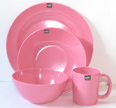 Zak Design BBQ Set Plate Soup Bowl Cup Cereal Bowl Pink Outdoor Camping
