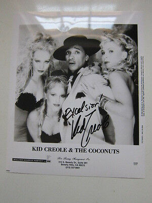 KID CREOLE & THE COCONUTS  8x10 photo  AUTOGRAPHED