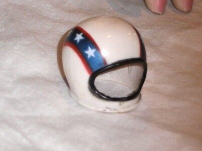 """EVIL KNIEVEL 7"""" figure from the 1970's HELMET red white blue"""