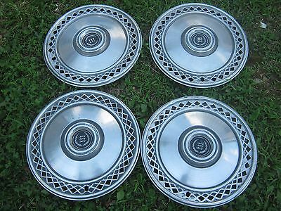 4 Pcs. Vintage Used Cougar  Hub Cap Hubcaps good for decor