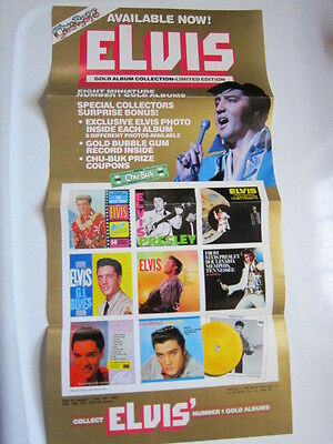 ELVIS PRESLEY Chu Bops Press kit and poster 2 photos 5 pgs