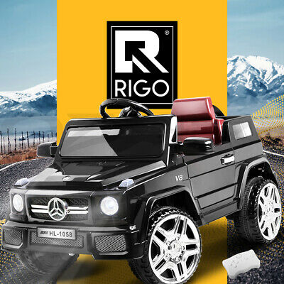 Rigo Kids Ride On Car 12V Electric Toy Battery Remote w/ Built-in Songs Black