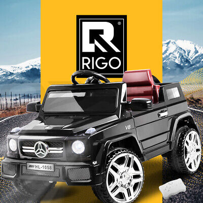 Rigo Kids Ride On Car Electric 12V Cars Toys Battery Remote Control Black Toy