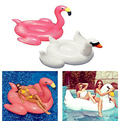 Lake Swan Inflatable Party Swimming Swim Ring Flamingo Ride-On Pool Float Gifts