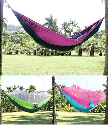 Camping Hammock with Mosquito Net Tree Tent Travel Jungle 2 Person  Bed Swing