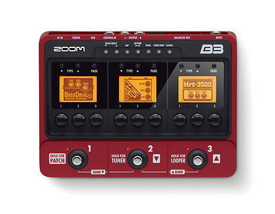 Zoom B3 USB Bass Guitar Multi-Effects Floor Console Pedal