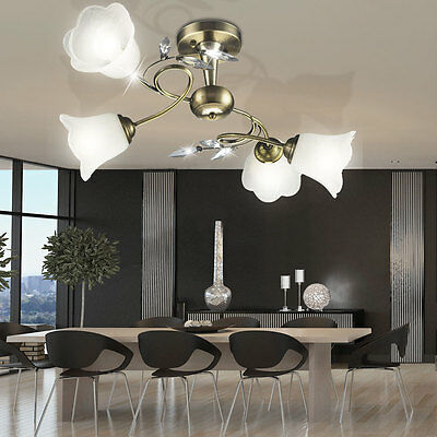 deckenlampe antik stil messing bronze kristall l ster kronleuchter frankreich eur 144 00. Black Bedroom Furniture Sets. Home Design Ideas