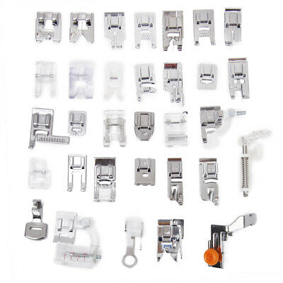 32pcs Domestic Sewing Machine Presser Foot Feet for Brother Singer Juki Elna
