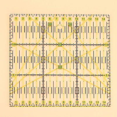 Quilting Sewing Patchwork Foot Aligned Ruler Grid Cutting Tailor Craft Scale New