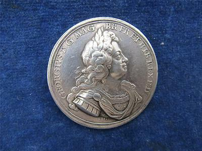 Scarce  SILVER Medal 1718 GEORGE I  Spanish Fleet DESTROYED OFF CAPE PASSARO