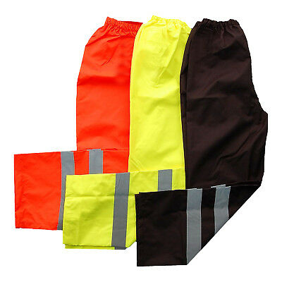 Hi Viz Visibility Vis WorkWear Safety Over Trousers Waterproof Pants Trousers