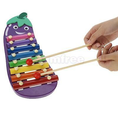 Colorful Wooden XYLOPHONE Glockenspiel 8 Notes CHILD KIDS MUSICAL INSTRUMENT Toy