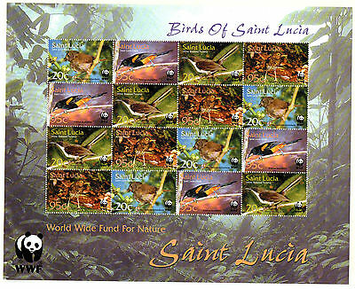 2001 St LUCIA Birds of St Lucia sheetlet unmounted mint