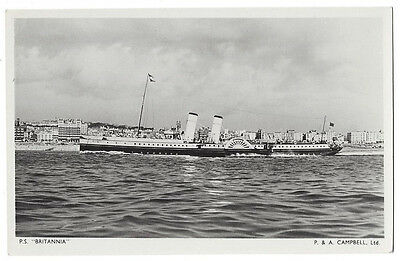 PADDLE STEAMER The Britannia, RP Postcard by Tuck, Unused