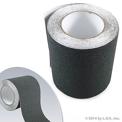 "6"" x 30' Black Roll Safety Non Skid Tape Anti Slip Tape Sticker Grip Safe Grit"