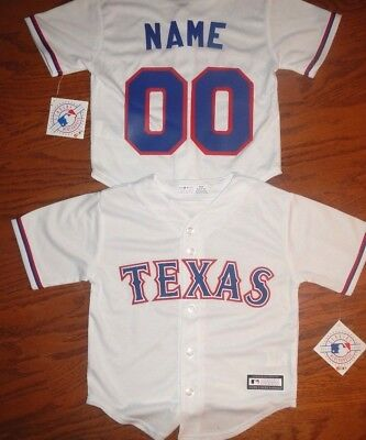 Texas Rangers  MLB Majestic Toddler Replica Jersey add name & number