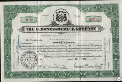 XXX-RARE B. MANISCHEWITZ STOCK w JEWISH IMAGES SIGNED BY MANISCHEWITZ! ONLY HERE