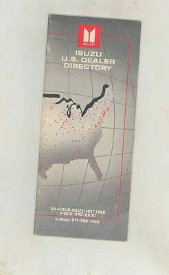 July 1985 Isuzu US Dealer List Directory Brochure ww1374