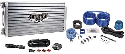 Boss Armor AR4000D 4000 Watt Mono Car Audio Class D Amplifier + Amp Kit