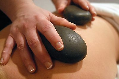 "2 pc Palm/Gluteal Basalt Stones for Hot Stone Therapy  (Size 3.25""-3.75"")"